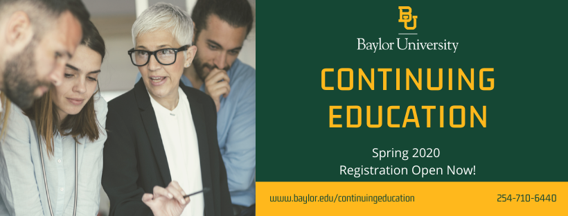 Baylor Continuing Ed Fall 2019 banner